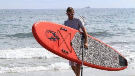 différentes manières d'utiliser un paddle gonflable